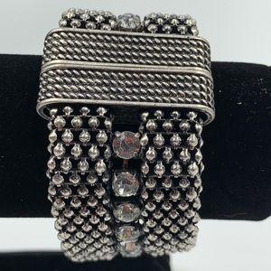 Sparkly Industrial Link Rhinestone Bracelet Magnet